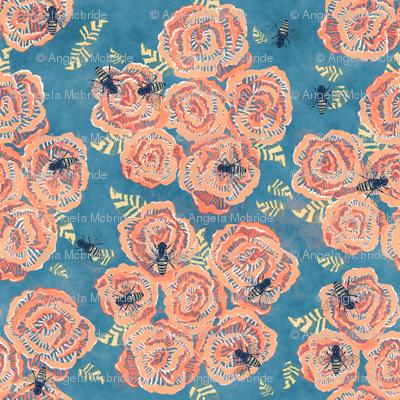 Bees & Flowers Watercolor Design
