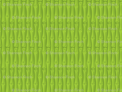 Kitsch Tiki - Framed Bamboo - Green