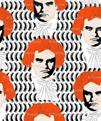 Beethoven orange on white