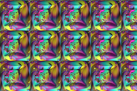 SQUARES ABSTRACTION REFLECTION 3 of BIRDS ON A GLASS FENCE GLOW  fabric by paysmage on Spoonflower - custom fabric