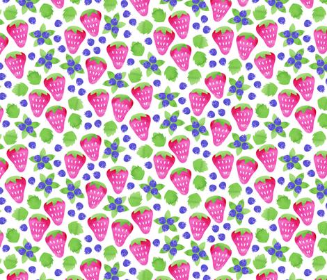 Summer Berries fabric by robyriker on Spoonflower - custom fabric
