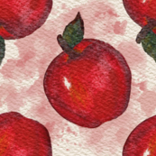 Red Apples Watercolor