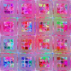 ART GLASS MOSAIC TILES WINDOW MULTICOLOR DELICIOUS PINK