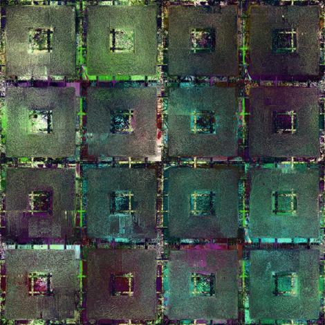 ART GLASS MOSAIC TILES WINDOW MULTICOLOR UNDERGROWTH PLUM TEAL MIST fabric by paysmage on Spoonflower - custom fabric
