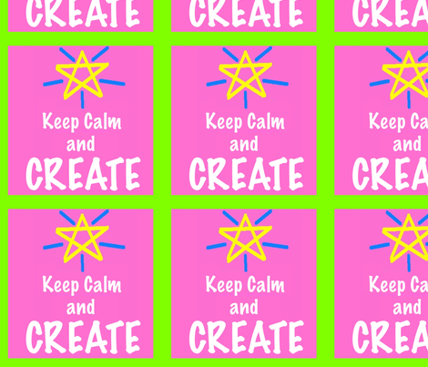Keep Calm and Create fabric by feralartist on Spoonflower - custom fabric