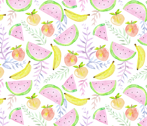 Watercolour_fruits_1 fabric by sylviaoh on Spoonflower - custom fabric