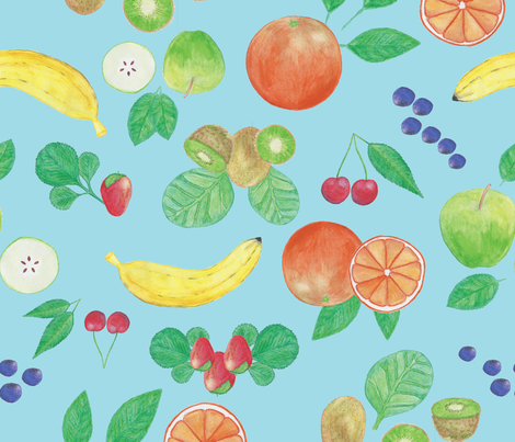 WatercolourFruit5 fabric by et_al on Spoonflower - custom fabric