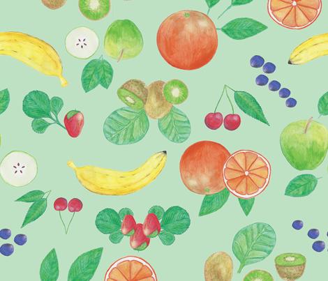 WatercolourFruit6 fabric by et_al on Spoonflower - custom fabric