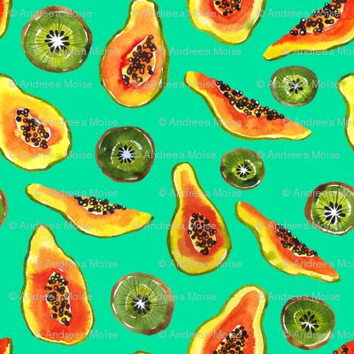 papaya & kiwi smoothie