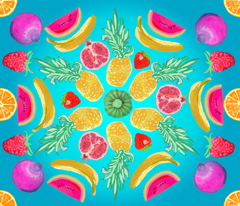 Fruity_love fabric by silnamilisa on Spoonflower - custom fabric