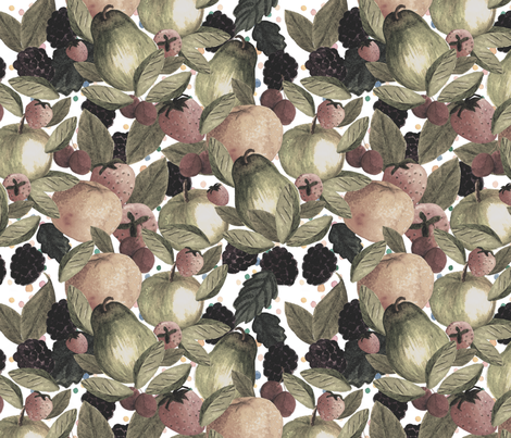 SP_FRUITS_WATERCOLOR fabric by yasminah_combary on Spoonflower - custom fabric