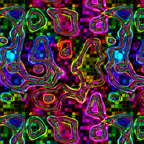 DISCO CLUB ABSTRACT MUSIC BUBBLES ON MINI MOSAIC fabric by paysmage on Spoonflower - custom fabric