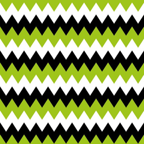 Chartreuse Chevrons