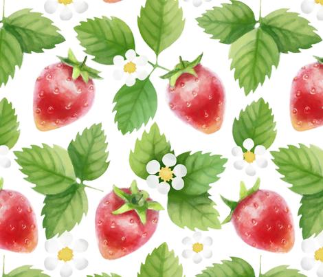 Strawberry jam fabric by elena_naylor on Spoonflower - custom fabric