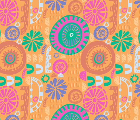 Colour Pop Mosaic fabric by slumbermonkey on Spoonflower - custom fabric