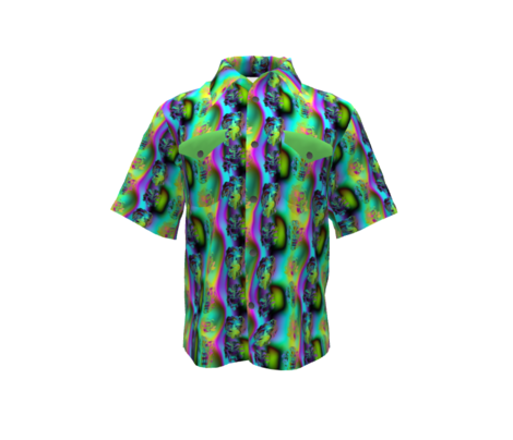 TIKI RAINBOW NEON DARK VOLUME AQUA GREEN HAWAII POLYNESIAN