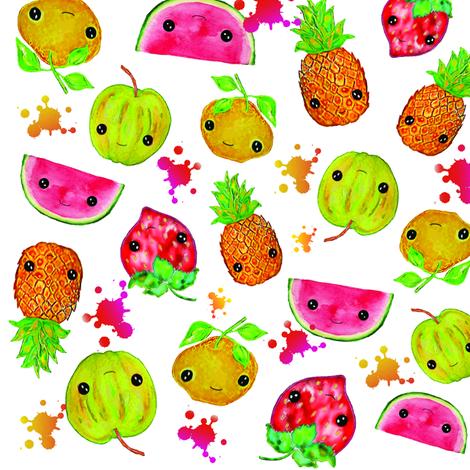 Fruit Splash fabric by tomokosart on Spoonflower - custom fabric