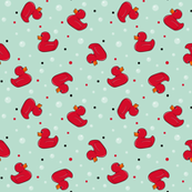 Rubber ducks Red