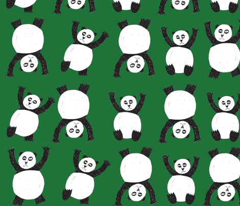 Panda Party fabric by ferdinand_ink on Spoonflower - custom fabric