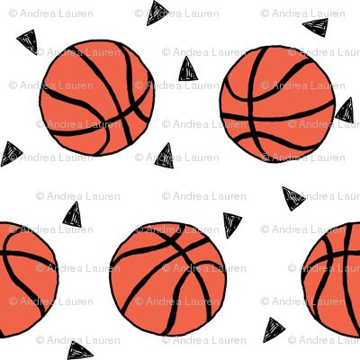 basketball fabric // small version basketballs design sports sport fabric by andrealauren
