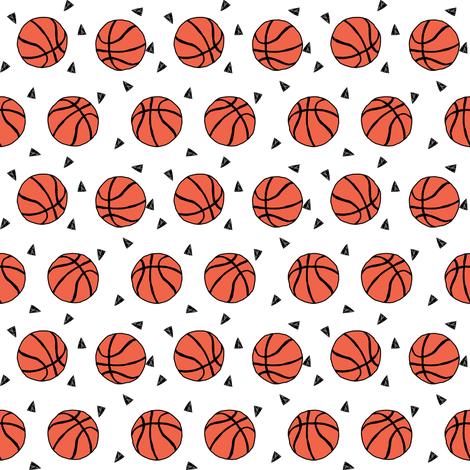 basketball fabric // small version basketballs design sports sport fabric by andrealauren fabric by andrea_lauren on Spoonflower - custom fabric
