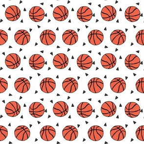 basketball fabric // small version basketballs design sports sport fabric by andrealauren