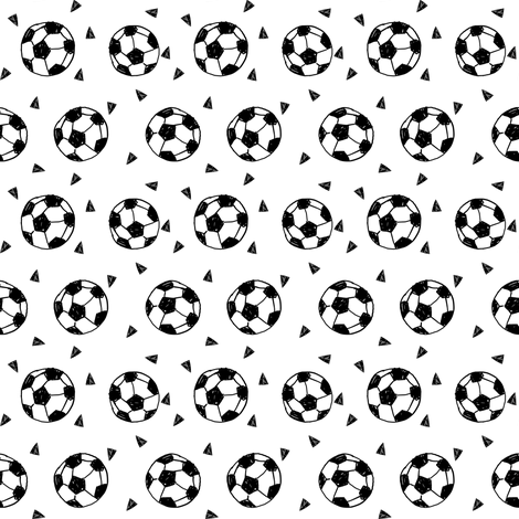 soccer fabric // soccer ball fabric black and white sports fabric soccer fabric by andrea_lauren on Spoonflower - custom fabric