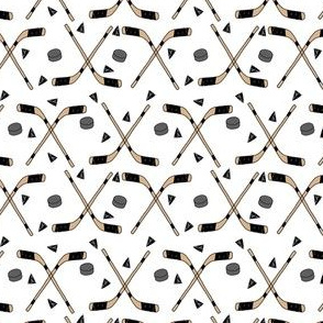 hockey fabric // hockey sticks, hockey puck, ice hockey fabric