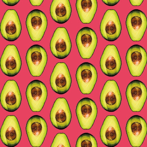 avocados in coral