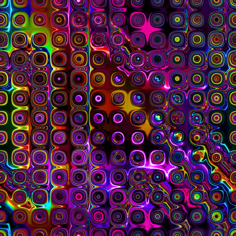 DISCO CLUB NEON LIGHTS  ROUNDED  SQUARES Touch of light fabric by paysmage on Spoonflower - custom fabric
