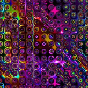 DISCO CLUB NEON LIGHTS  ROUNDED  SQUARES Touch of light