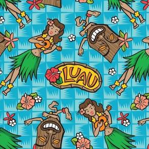 Kitsch Tiki - Luau - Aqua