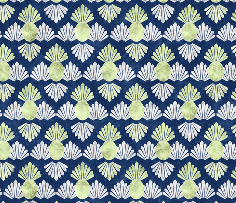 deco pineapple 7 fabric by kociara on Spoonflower - custom fabric