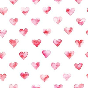 watercolor heart pattern