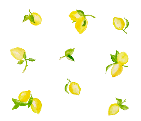 watercolor lemons fabric by tiffanyw07 on Spoonflower - custom fabric