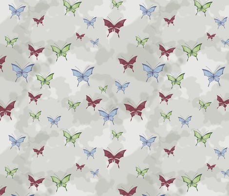 watercolor_butterflies fabric by rachml on Spoonflower - custom fabric