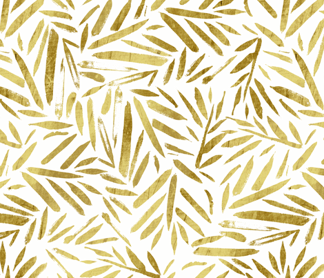 Gold Leaves fabric by crystal_walen on Spoonflower - custom fabric