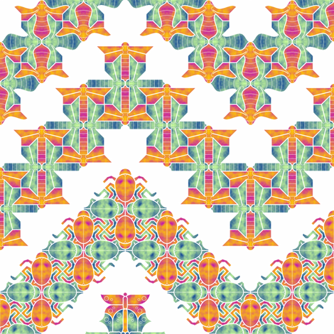 06424773 : insect 4 zigzag in watercolour fabric by sef on Spoonflower - custom fabric
