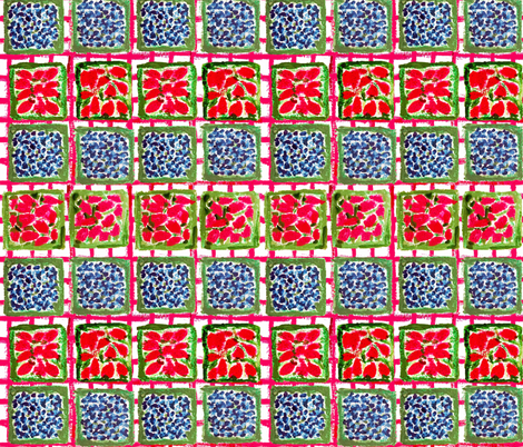 Summer Berries at the Farmers Market fabric by lisakling on Spoonflower - custom fabric