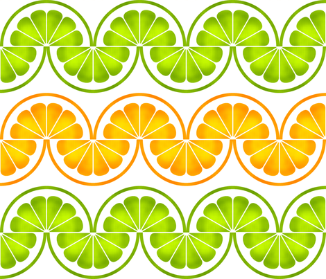 06425174 : citrus slices zigzag fabric by sef on Spoonflower - custom fabric