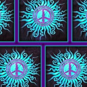 Peace Sign Fabric Patch