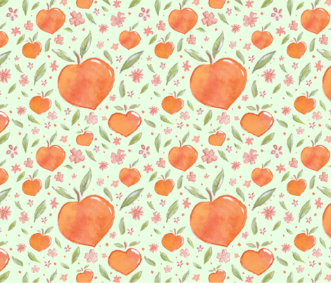 Georgia Peach wallpaper - sieradesigns - Spoonflower