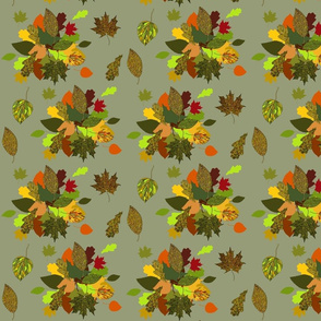 Autumn Bouquet on khaki