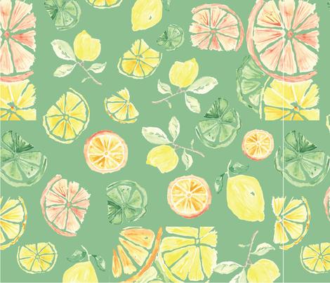 Watercolor Fruit fabric by annelafollette on Spoonflower - custom fabric