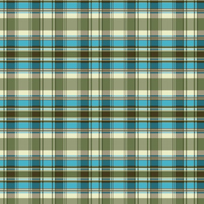 Autumn Plaid repeat - turquoise