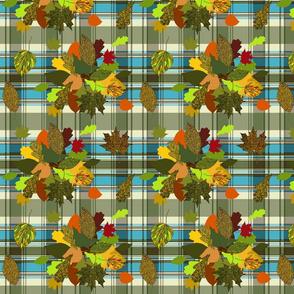 Autumn Plaid repeat - turquoise