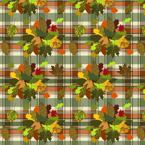 Autumn Plaid repeat - orange