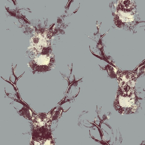 Painterly Splattered Deer Pattern