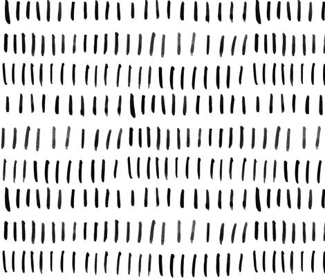 Black Watercolor Lines fabric by taraput on Spoonflower - custom fabric