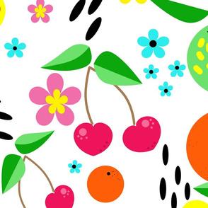 Fruit berry pattern .